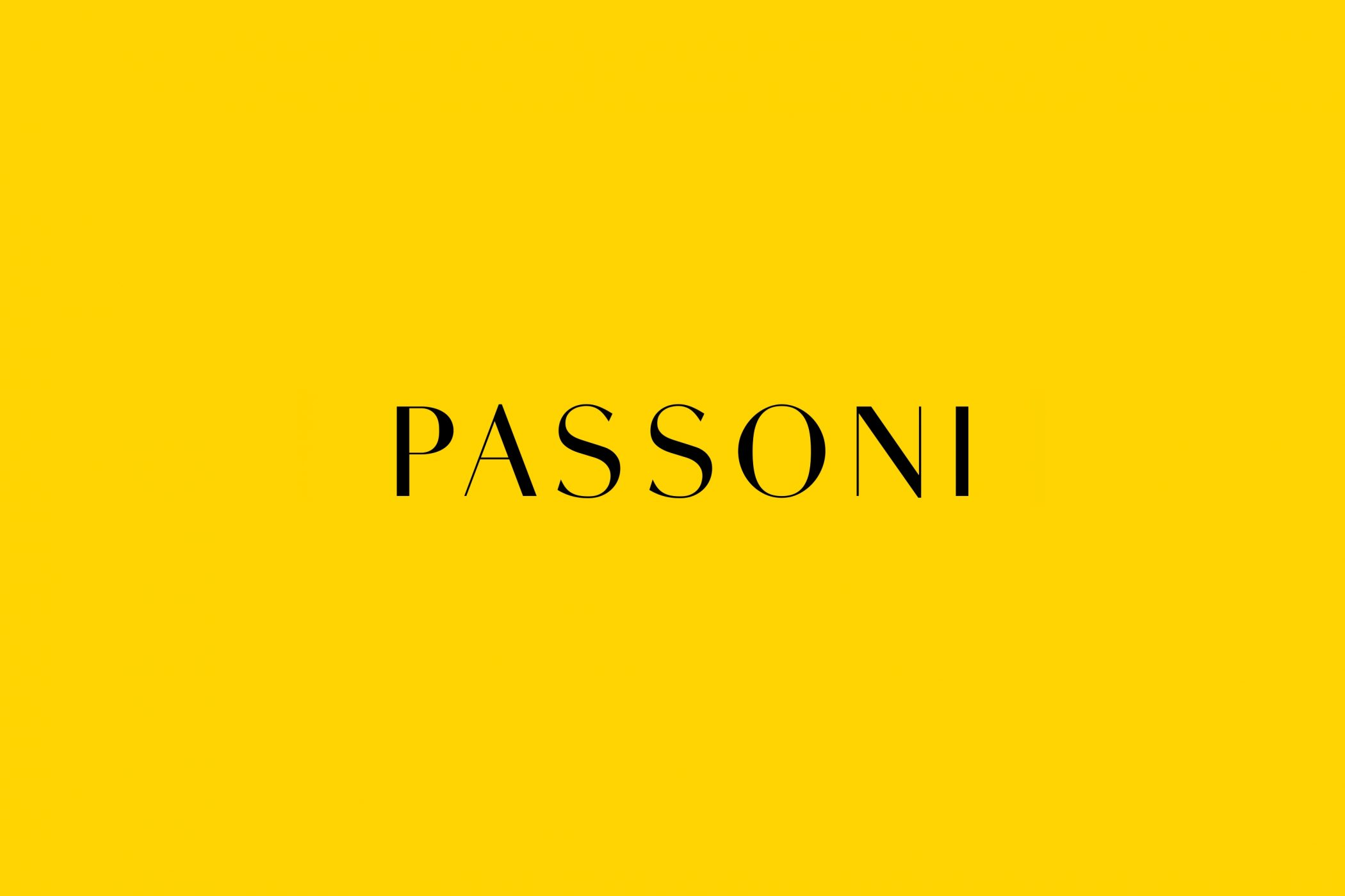 Passoni Logotype 02